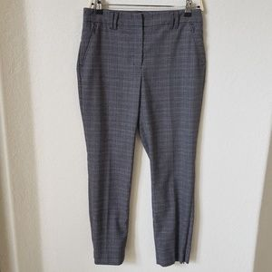 WHBM The slim ankle plaid pants size 4